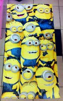 big lots towels - BY DHL New Big Size Despicable Me Minion Bath Towels Cartoon Cotton Beach Towels for Summer