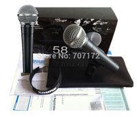 al por mayor micrófono vocal-envío 2015 Nuevo diseño de micro 1pcs al por mayor-libre SM58 cardioide SM58LC vocal micrófono con cable micrófonos Micrófono, Profesional Mic