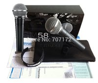 Wholesale New designed mic SM58 SM58LC Cardioid vocal microphone Wired microphones Microphone Professional Mic