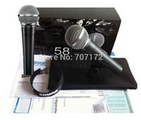 Wholesale New designed mic SM58 SM58LC Cardioid vocal microphone Wired microphones Microphone Professional Mic