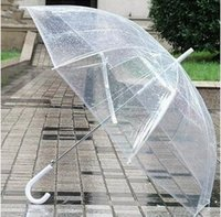 Wholesale 50PCS LJJL53 Stars New Transparent Umbrella Rain Umbrella Parasol Clear Dome contracted self motion open an umbrella