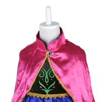 TuTu Spring / Autumn A-Line Girl`s Frozen Princess Anna Elsa Cosplay Costume Kid`s Party Dress + Cloak 3-8Y