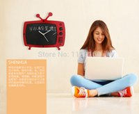 art message boards - HOME furnishings fashion creative art vintage wall clock TV blackboard message board home decorative wall clock high grade decor