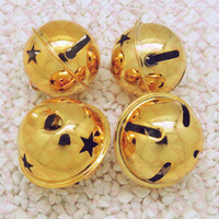 Wholesale new Home Decor Gold Bell Charms Christmas Decor Fit DIY Decorate bells Gifts kids baby Toys