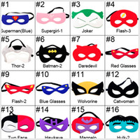 Wholesale halloween mask for children cosplay eye mask party mask masquerade masks superman mask Eye Shade for superman cape