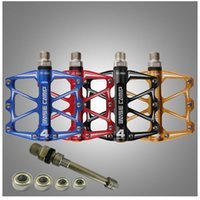 Wholesale Ultralight Slip Resistant Aluminum Alloy Ball Bearing Pedals One Pair Multi color BaseCamp MTB Pedal Mountain Bicycle Road Bike