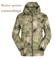 Wholesale 2014 HOT Military Tactical Hiking Jacket Mens Womens Lurker Shark Skin Soft Shell Fleece Camping Coat Waterproof Windproof Army Camo Jackets