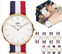 Wholesale Daniel Wellington Watches Top Brand Luxury Style DW Watch For Men Nylon Strap Military Quartz Wristwatch Clock with pu box