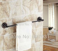 Wholesale And Retail Oil Rubbed Bronze Single Pole Monolayer Bath towel Bar Wall Mounted Towel Shelf
