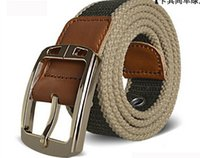 Wholesale Lady Jeans Belt - 2016 the latest men's leisure canvas needle PU imitation leather belt buckle belts ladies fashion jeans candy color optional free shipping