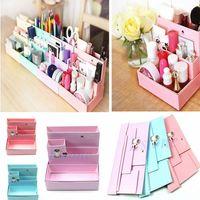 Cheap DIY Paper Board Storage Box Desk Decor Stationery Makeup Cosmetic Organizer New # ZH127