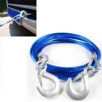 Wholesale 5 Ton m Car Vehicle Boat Steel Wire Tow Rope Towing Strap Rope With Hook