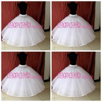 Wholesale High Quality Eight Layers No Hoops Petticoats For Bridal Wedding Gowns White Organza Ball Gown Underskirt For Bridal Accessories Crinoline