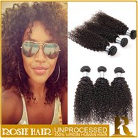 best curly weave natural hair - Best Selling Curly Hair Weaves Virgin Remy Indian Kinky Curly Hair Weft Natural Color Queen Hair Prodcuts Bundles Rosie Hair