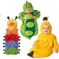 Cheap Wholesale-Baby Romper clothing Sleeping Bag Peas Pajamas Sleep Newborn Sleepsacks caterpillar four season cartoon cute style Fleebag