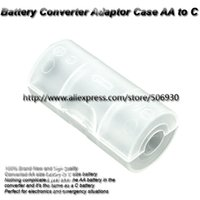 aa cell holder - 100 Holder Case AA to C Cell Battery Adaptor Converter for All AA Batteries