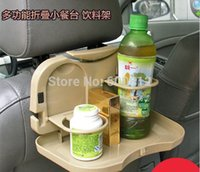 Wholesale 2014 New Car drink holder glass rack dining table back seat small multifunctional dining table shelf cup holder black off white