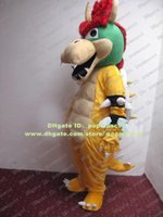 bowser costume - Cute Yellow Super Mario Bros King Bowser Koopa Mascot Costume Dragon Turtle With Red Eyebrows Mascotte Adult No Free Ship
