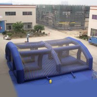 big amusement parks - AOQI amusement park equipment inflatable tent inflatable outdoor big blue square Tent for kids for sale made in China