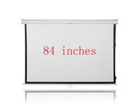 Wholesale 84 inches Wall Mounted Manual Matt White HD Projection Screen