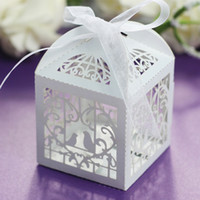 butterfly in flower - Laser Cut Butterfly and Flower Wedding Party Favor Box In Pearlescent Candy Box Party Show Gifts