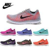 Wholesale Nike Women s FLYKNIT Free RUN Running Shoes Original Women s Running shoes Cheap Best Tennis Jogging FreeShipping Run Shoes