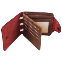 Wholesale S5Q Mens PU Leather Wallet Pockets Card Clutch Bifold Purse Card Money Holder AAACLQ