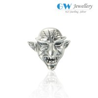 halloween charms - Halloween evil kittie charms beads S925 sterling silver fits DIY bracelets and necklace hot sale T168I6