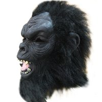 ape face - Halloween Mask Party Masquerade Latex Creepy Ape man Cosplay Masks Silicone Face Fancy Dress Chimpanzee Mask