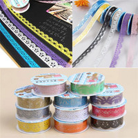 plastic rolls - New Arrivals Set Office Adhesive Tape Sticky Paper Decorative Lace Roll Plastic C308