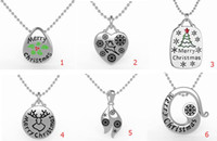 asian beer - 2016 New christmas necklace girl gift Stainless Steel statement necklace for women beer bell christmas man snow pendant collar
