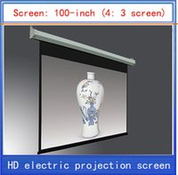 electric projection screen - 100 inch projection screen home theater projector screen HD projector screen electric curtain Wireless Remote