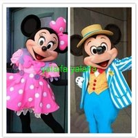 Wholesale In stock Couple Mickey Minne Mouse Cartoon Mascot Costume carnival Outfit party Christmas Halloween Costume