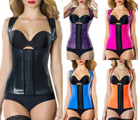 corset xs - Hot Popupar Womens Sport Latex Waist Cincher Vest Shapewear Bustiers Slimming Body Shaper Steel Boned Waist Trainer Corset