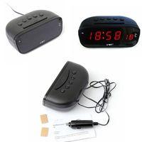 Wholesale New V Car Voltmeter Red LED Dual display Voltage Temperature Monitor Alarm Clock IN digital temperature