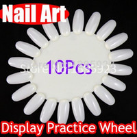 Wholesale 10Pcs Retail White Nail Acrylic False Nails Tips DIY Nail Tool