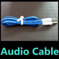 DC3.5mm audio patch cords - 1M FT Flat mm Car Aux Audio Cable for iPhone iPod for s6 Stereo Male Color Audio Headphone PC patch Cable Cord