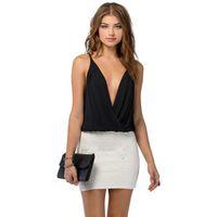 Cheap w1023 Best Seller Sexy Women Slim waist chiffon camisole Sling Vest Corset Clubwear 51019