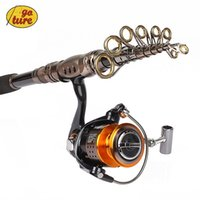 Wholesale Goture Portable Telescopic Spinning Fishing Rod with Reel Combos Carbon Fiber Generic Bearings GT4000 Spinning Fishing Reel