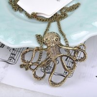 beaded octopus - Vintage Pirates of the Caribbean Octopus Devilfish Pendant Chain Necklace Long Sweater Chain Chic Jewel FYMPJ302