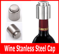 bar stock storage - Red Wine Stainless Steel Cap Vacuum Sealed Wine Storage Bottle Stopper Plug Bottle Cap Pressing Type Stainless Steel Champagne Stopper