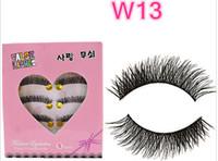 Wholesale W winged eyelashes Messy Cross Thick Natural Fake Eye Lashes Professional Makeup Tips ladyy Long False Eye Lashes