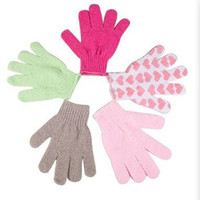 bath and body brushes - 8 Clean gloves chuveiros bathwater bath skin cleaning gloves scrub mitt peeling accessories bath and body works