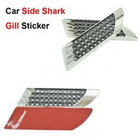 accessories lateral - Auto Shark Gill Side Decoration Sticker Car Styling False Tuyere Lateral Decals Automobile Accessories