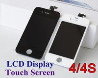 Wholesale Front Assembly LCD Display Touch Screen Digitizer Replacement Part for iphone G S Black White JP24