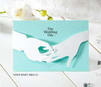 wedding invitations - Blue wedding invitations european style invitations wedding creative personality Korean custom invitations wedding can print photos