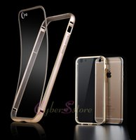 metal panel - For iPhone s i6 Plus Luxury Ultra Thin Aryclic PC Cover Aluminum Metal Frame Case Transparent Panel Back Phone