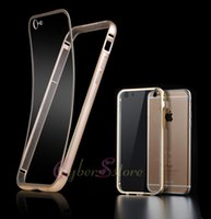 metal panel - For iPhone plus inch Luxury Ultra Thin Aryclic PC Cover Aluminum Metal Frame Case Transparent Panel Back Phone