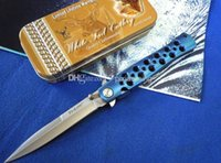 camping - Blue COLD STEEL TI LIFE S Folding blade knife gear Cr17Mov Tactical camping hiking Pocket knife knives tool microtech