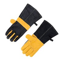 Wholesale Fashion Yellow Gloves Pair Winter Thermal Warm Gloves Comfortable Heat Resistant BBQ Oven Microwave Gloves for Kitchen
